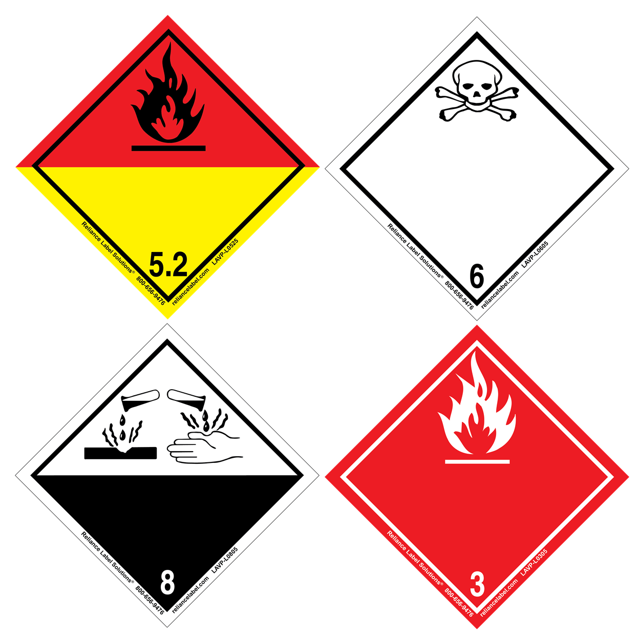 International 4 x 4 Labels