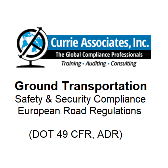 Ground Transportation (DOT 49 CFR, ADR)