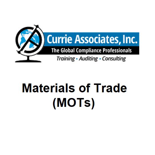 Materials of Trade