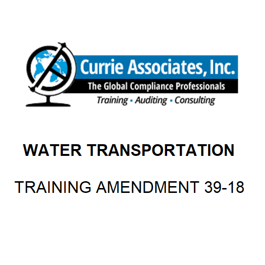 Water Transportation (IMDG Code)