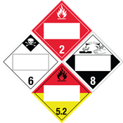 Blank 4-Digit HazMat Placards