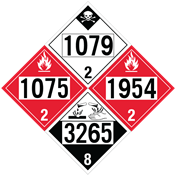 4-Digit Hazmat Placards