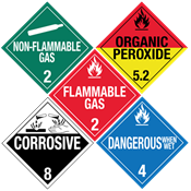 Worded HazMat Placards