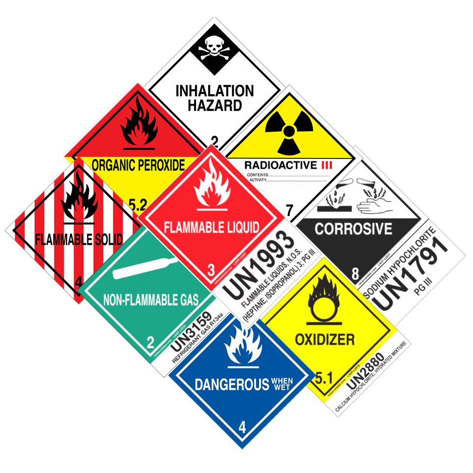DOT HazMat Labels