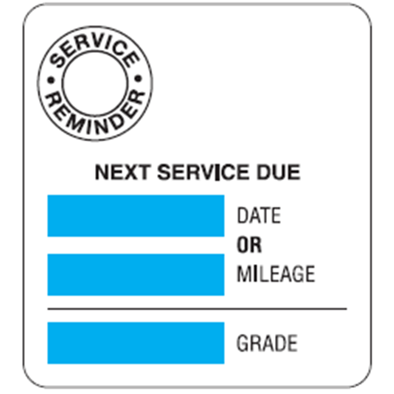Service Reminder Labels