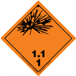 Class 1 EXPLOSIVE <br/>Div. 1.1 PVC-Free Poly <br/>Worded Label <br/>500/roll