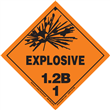 Class 1 EXPLOSIVE <br/>Div. 1.2B PVC-Free Poly <br/>Worded Label <br/>500/roll