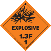 Class 1 EXPLOSIVE <br/>Div. 1.3F PVC-Free Poly <br/>Worded Label <br/>500/roll