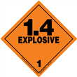 Class 1 EXPLOSIVE <br/>Div. 1.4 PVC-Free Poly <br/>Worded Label <br/>500/roll