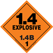 Class 1 EXPLOSIVE <br/>Div. 1.4B PVC-Free Poly <br/>Worded Label <br/>500/roll