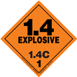 Class 1 EXPLOSIVE <br/>Div. 1.4C PVC-Free Poly <br/>Worded Label <br/>500/roll