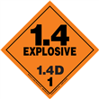 Class 1 EXPLOSIVE <br/>Div. 1.4D PVC-Free Poly <br/>Worded Label <br/>500/roll