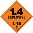 Class 1 EXPLOSIVE <br/>Div. 1.4E PVC-Free Poly <br/>Worded Label <br/>500/roll