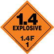 Class 1 EXPLOSIVE <br/>Div. 1.4F PVC-Free Poly <br/>Worded Label <br/>500/roll