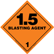 Class 1 BLASTING AGENT <br/>Div. 1.5 PVC-Free Poly <br/>Worded Label <br/>500/roll