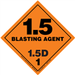 Class 1 BLASTING AGENT <br/>Div. 1.5D PVC-Free Poly <br/>Worded Label <br/>500/roll