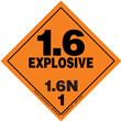 Class 1 EXPLOSIVE <br/>Div. 1.6N PVC-Free Poly <br/>Worded Label <br/>500/roll