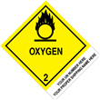 "CUSTOM 4"" x 5""<br/>Class 2 OXYGEN <br/>Proper Shipping Name Label <br/>500/roll"