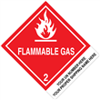 "CUSTOM 4"" x 5""<br/>Class 2 FLAMMABLE GAS <br/>Proper Shipping Name Label <br/>500/roll"