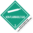"CUSTOM 4"" x 5""<br/> Class 2 NON-FLAMMABLE GAS <br/>Proper Shipping Name Label <br/>500/roll"