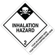 "CUSTOM 4"" x 5""<br/>Class 2 INHALATION HAZARD <br/>Proper Shipping Name Label <br/>500/roll"