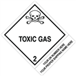 "CUSTOM 4"" x 5""<br/>Class 2 TOXIC GAS <br/>Proper Shipping Name Label <br/>500/roll"