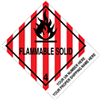 "CUSTOM 4"" x 5""<br/>Class 4 FLAMMABLE SOLID <br/>Proper Shipping Name Label <br/>500/roll"