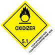 "CUSTOM 4"" x 5"" <br/>Class 5 OXIDIZER <br/>Proper Shipping Name Label <br/>500/roll"