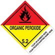"CUSTOM 4"" x 5"" <br/>Class 5 ORGANIC PEROXIDE <br/>Proper Shipping Name Label <br/>500/roll"