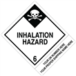 "CUSTOM 4"" x 5"" <br/>Class 6 INHALATION HAZARD <br/>Proper Shipping Name Label <br/>500/roll"