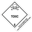"CUSTOM 4"" x 5"" <br/>Class 6 TOXIC <br/>Proper Shipping Name Label <br/>500/roll"