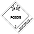 "CUSTOM 4"" x 5"" <br/>Class 6 POISON <br/>Proper Shipping Name Label <br/>500/roll"