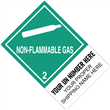 "CUSTOM 4"" x 6"" <br/> Class 2 NON-FLAMMABLE GAS <br/>Proper Shipping Name Label <br/>500/roll"