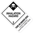 "CUSTOM 4"" x 6"" <br/>Class 2 INHALATION HAZARD <br/>Proper Shipping Name Label <br/>500/roll"