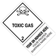 "CUSTOM 4"" x 6"" <br/>Class 2 TOXIC GAS <br/>Proper Shipping Name Label <br/>500/roll"