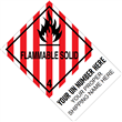 "CUSTOM 4"" x 6"" <br/>Class 4 FLAMMABLE SOLID <br/>Proper Shipping Name Label <br/>500/roll"