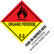 "CUSTOM 4"" x 6"" <br/>Class 5 ORGANIC PEROXIDE <br/>Proper Shipping Name Label <br/>500/roll"