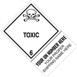 "CUSTOM 4"" x 6"" <br/>Class 6 TOXIC <br/>Proper Shipping Name Label <br/>500/roll"