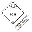 "CUSTOM 4"" x 6"" <br/>Class 6 PG III <br/>Proper Shipping Name Label <br/>500/roll"