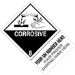 "CUSTOM 4"" x 6"" <br/>Class 8 CORROSIVE <br/>Proper Shipping Name Label <br/>500/roll"