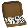 3.5 Inch Numbers for Placards <br/>1 Kit of #'s 0-9, 50 ea