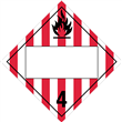Class 4 <br/>FLAMMABLE SOLID <br/>Blank Placard