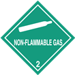 Class 2 <br/>NON-FLAMMABLE GAS <br/>Worded Label <br/>500/roll