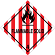 Class 4 <br/>FLAMMABLE SOLID <br/>Worded Label <br/>500/roll
