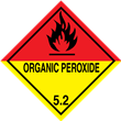 Class 5 <br/>ORGANIC PEROXIDE <br/>Worded Label <br/>500/roll
