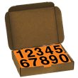 4 Inch UN Numbers <br/>for Orange Panels <br/>1 Kit of #'s 0-9, 50 ea