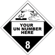 Class 8 <br/>CORROSIVE <br/> 4-Digit Placard