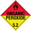 Class 5 <br/>ORGANIC PEROXIDE <br/> Worded Placard