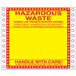 "Blank Hazardous Waste Label <br/>PVC-free Poly w/perm adhesive <br/>6"" x 6"", pinfeed, 1,000/bx"
