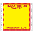"Blank Hazardous Waste Label <br/>PVC-free Poly w/perm adhesive, <br/>6"" x 6"", pinfeed, 1,000/bx"